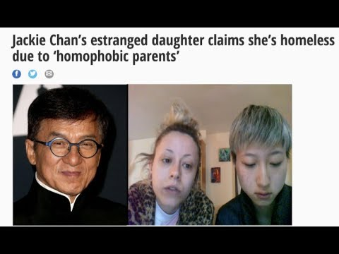 Jackie Chan's daughter claims to be homeless & living under a bridge...#girlbye🙄