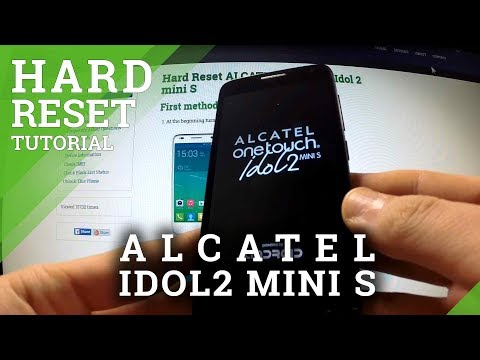 Hard Reset Alcatel Idol 2 Mini S - reset phone and bypass screen protection