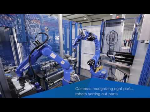 YASKAWA & HKCON - Metal cutting machine for manufacturing of malleable cast iron fittings