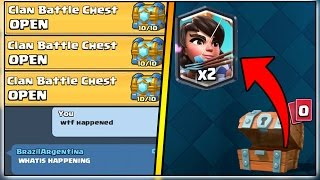 UNLIMITED CLAN BATTLE CHEST GLITCH!? | CLASH ROYALE MYTHBUSTERS!