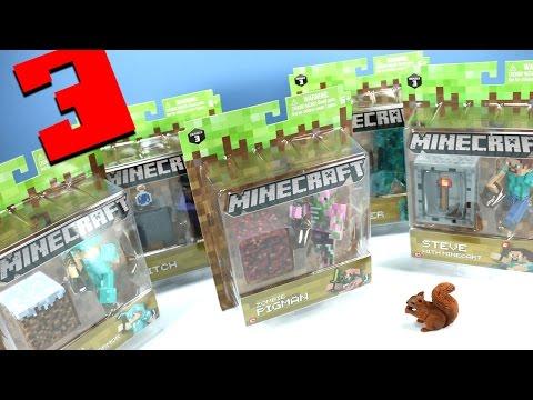 Minecraft Jazwares Series 3 Action Figures Steve Alex Pigman & More