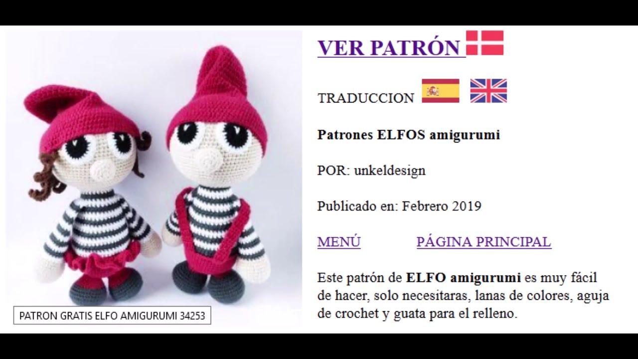 DIY Elfo amigurumi patròn gratis Tutorial diy con Patrón gratis ... | 720x1280