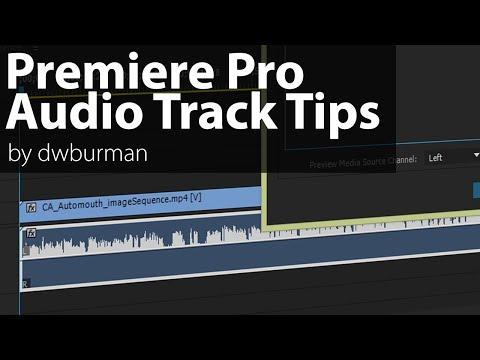 Premiere Pro Audio Track Channel Assignment Options