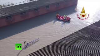 Streets are full of water: Massive flood prompts evacuation in Italy