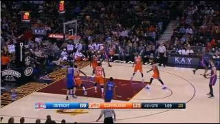 larry sanders first 2 minute in cleveland cavaliers vs detroit pistons