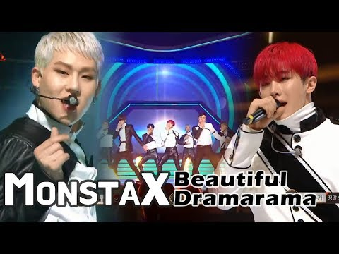 MONSTA X - Beautiful+DRAMARAMA, 몬스타엑스 - 아름다워+드라마라마 @2017 MBC Music Festival