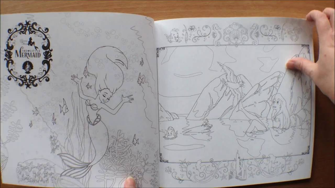 Disney Girls Colouring Book (Japanese) - YouTube