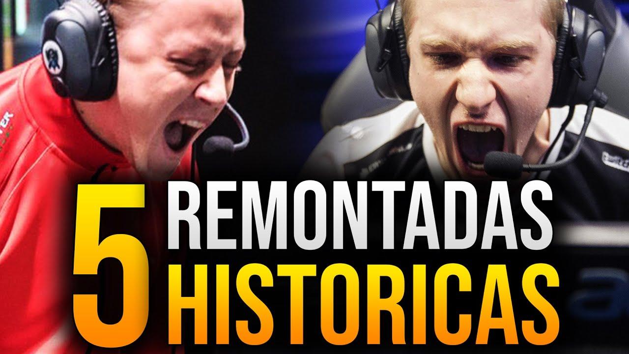 Las 5 REMONTADAS más ÉPICAS en la HISTORIA de League of Legends