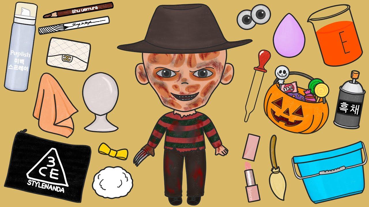 나이트메어 프레디 인형 변신시키기 스톱모션 Nightmare Freddy Doll Transformation Stop motion