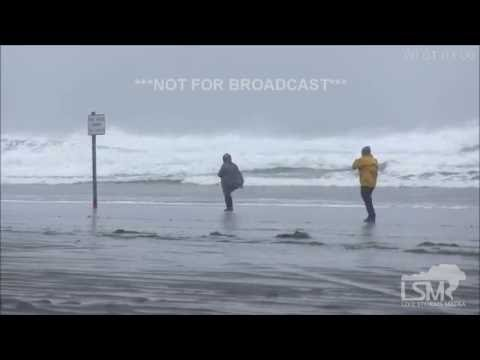 10-15-16 Ocean Shores, WA Pacific Storm/Damage