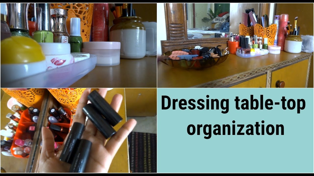 Small Dressing table-top organization|| how to organize small ...