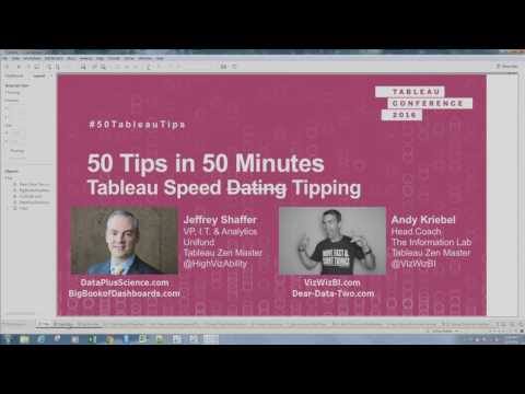 50 Tableau Tips in 50 Minutes