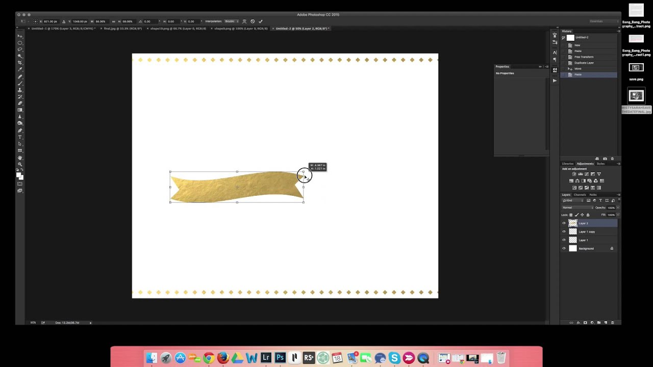 How to create templates in Photoshop CC YouTube