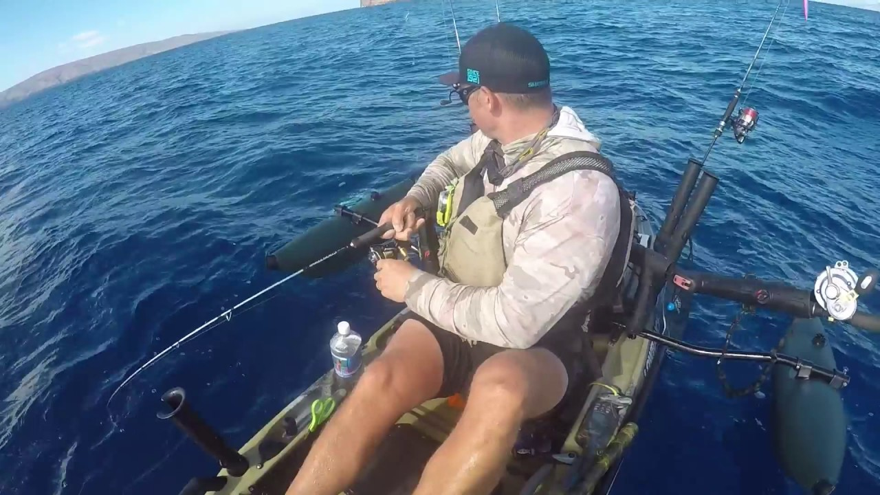 Hawaii kayak fishing giant amberjack vertical for Kayak fishing hawaii
