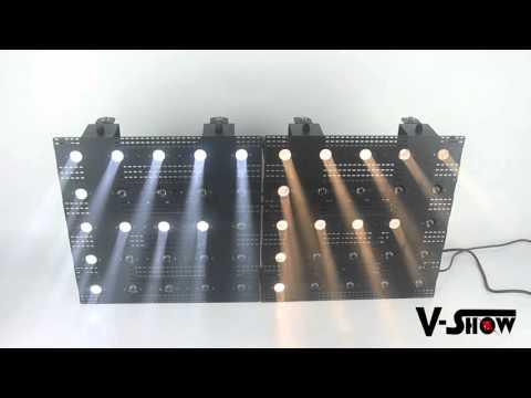 Matrix Beam LED 25x3W White /Warm White led matrix blinder light