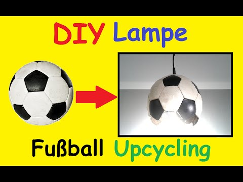 diy fussball lampe selber machen kinderzimmer em 2016. Black Bedroom Furniture Sets. Home Design Ideas