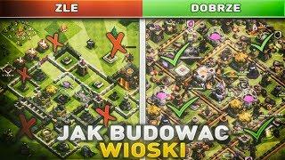 JAK BUDOWAC WIOSKI! | Clash Of Clans Polska