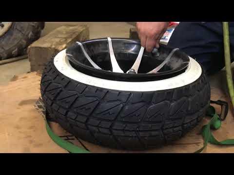 honda ruckus clone rea tire installation