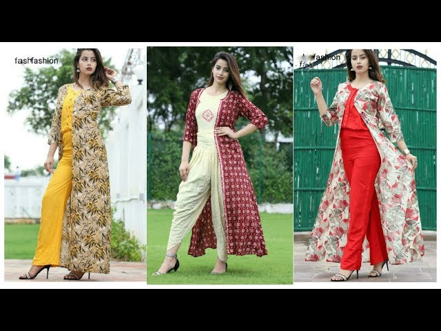 Shurg with Pants & Salwar Designs !! Latest Log Shrug Dresses Designs ideas for girls and Womens