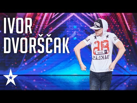 Ivor Dvorščak shows us what krump dance is all about │Supertalent 2018│Auditions