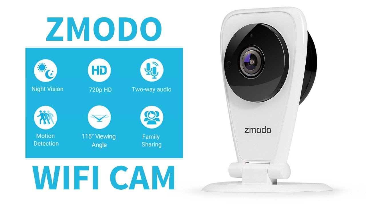 Zmodo 720p HD WiFi Wireless Home Security Camera System Two-Way Audio Night V...