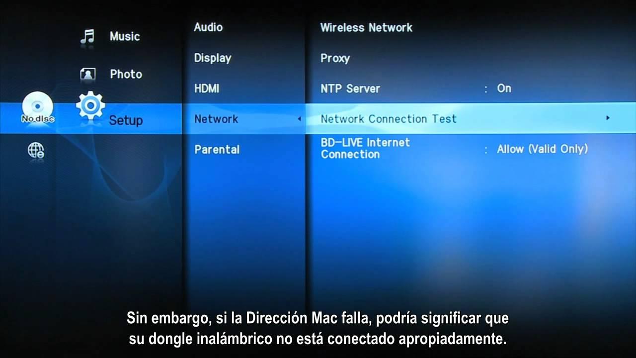Como Conectar El Reproductor Blu Ray De Forma Inalambrica