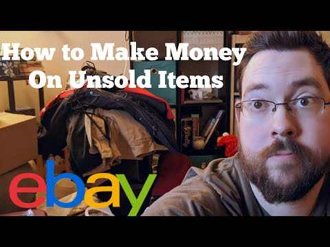 How to Make Money on Unsold eBay Items