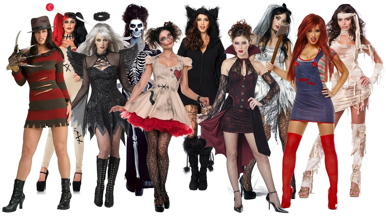 10 Best Scary Halloween Costume Ideas for Women  sc 1 st  YouTube : women halloween costumes  - Germanpascual.Com