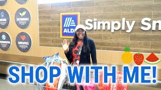 FIRST TIME AT ALDI GROCERY STORE‼️SHOP WITH ME🍎HAUL
