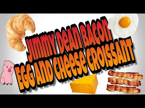 ✴JIMMY DEAN | Bacon🐖 Egg🐣 And Cheese🧀 Croissant Mukbang