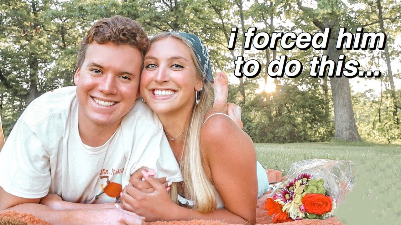 forcing my boyfriend to go on a pinterest picnic date with me...