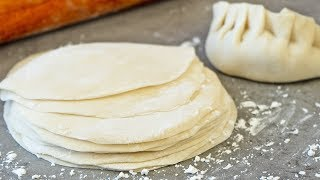 How to Make Dumpling Dough  Wrappers for Boiled Dumplings