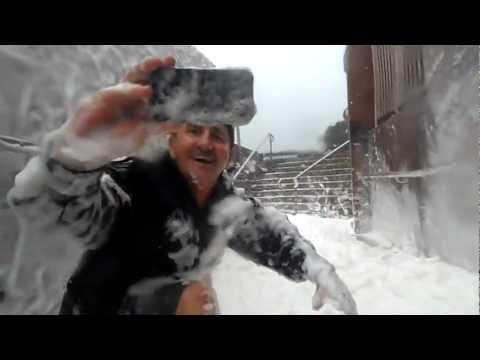 Yeppoon ex-TC Oswald wild seas conjure up oceanic foam 'snow'