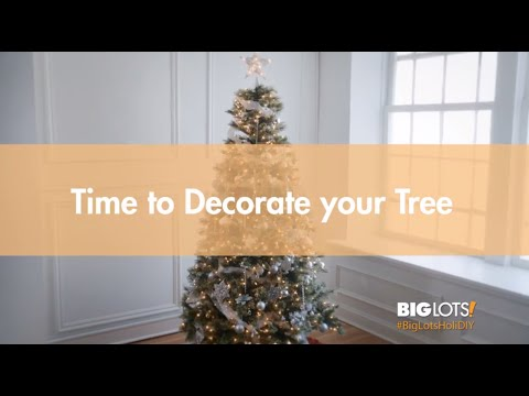Big Lots HoliDIY - Time to Decorate your Tree