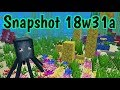 Snapshot 18w31a- Renewable Coral, Bonemeal Drops and Chunk Loading Commands!