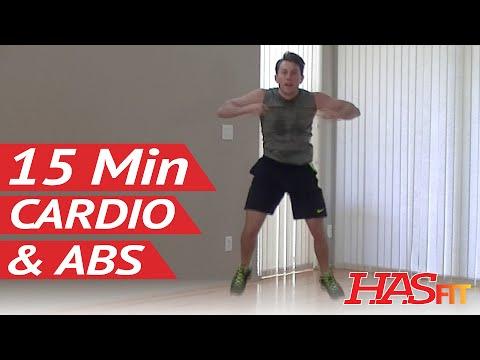 15 Min Insanity Cardio Abs Workout For Women & Men At Home - Cardio Workouts - Aerobic Ab Exercises
