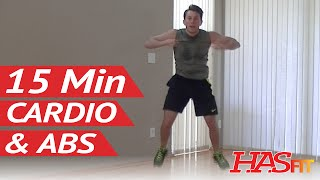 15 Min Insanity Cardio Abs Workout - HASfit Cardio Workouts - Aerobic Ab Exercises - Abdominal