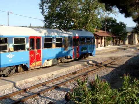 MAN1 DMU train to Achladokampos station