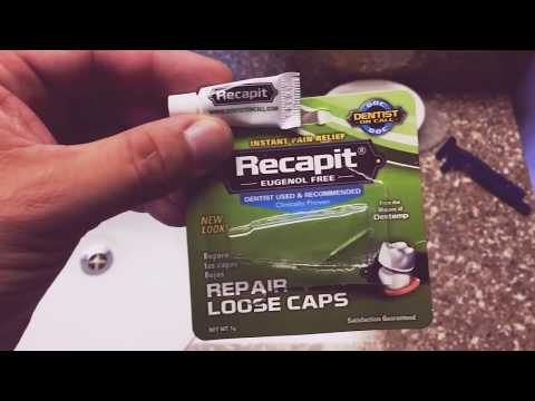 How To Repair Loose Tooth Caps And Crowns Instant Relief Toothache Pain Expose Nerve