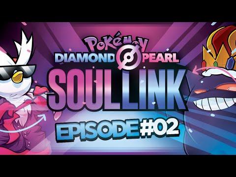 "Pokémon Diamond &Pearl  Soul Link Randomized Nuzlocke w/ @TheKingNappy!! - Ep2 ""IT'S A CRIT!"""