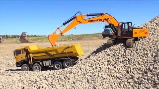 Repeat youtube video RC ADVENTURES - 1/12 Scale Earth Digger 4200XL Excavator & 1/14 8x8 Armageddon Dump Truck