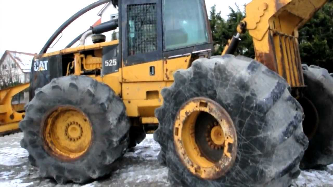 used skidder caterpillar 525 b landtechnik gebraucht traktor youtube. Black Bedroom Furniture Sets. Home Design Ideas
