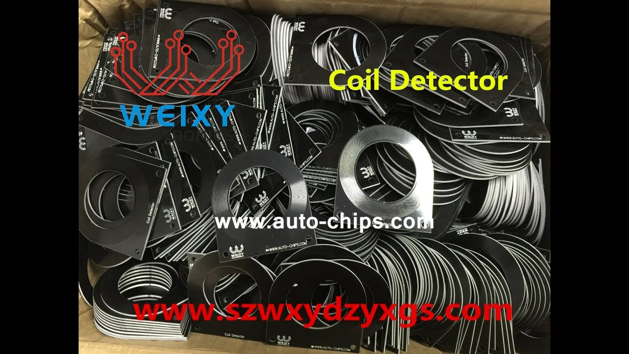 Car Key ECU Test Coil Automotive ECU Induction Signal Detection Test Card Auto Diagnostic Tool Theft Coil Detection