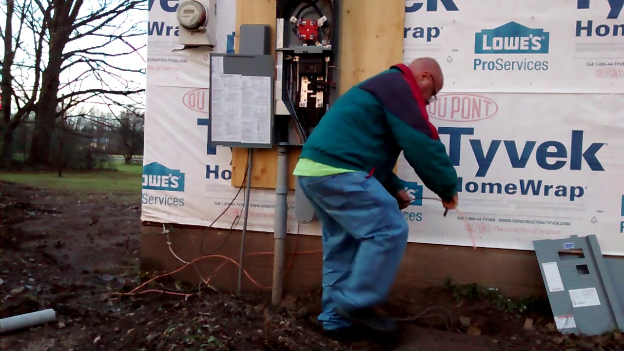 small resolution of i show how to ground a 200 amp service at meter disconnect consult inspector before working