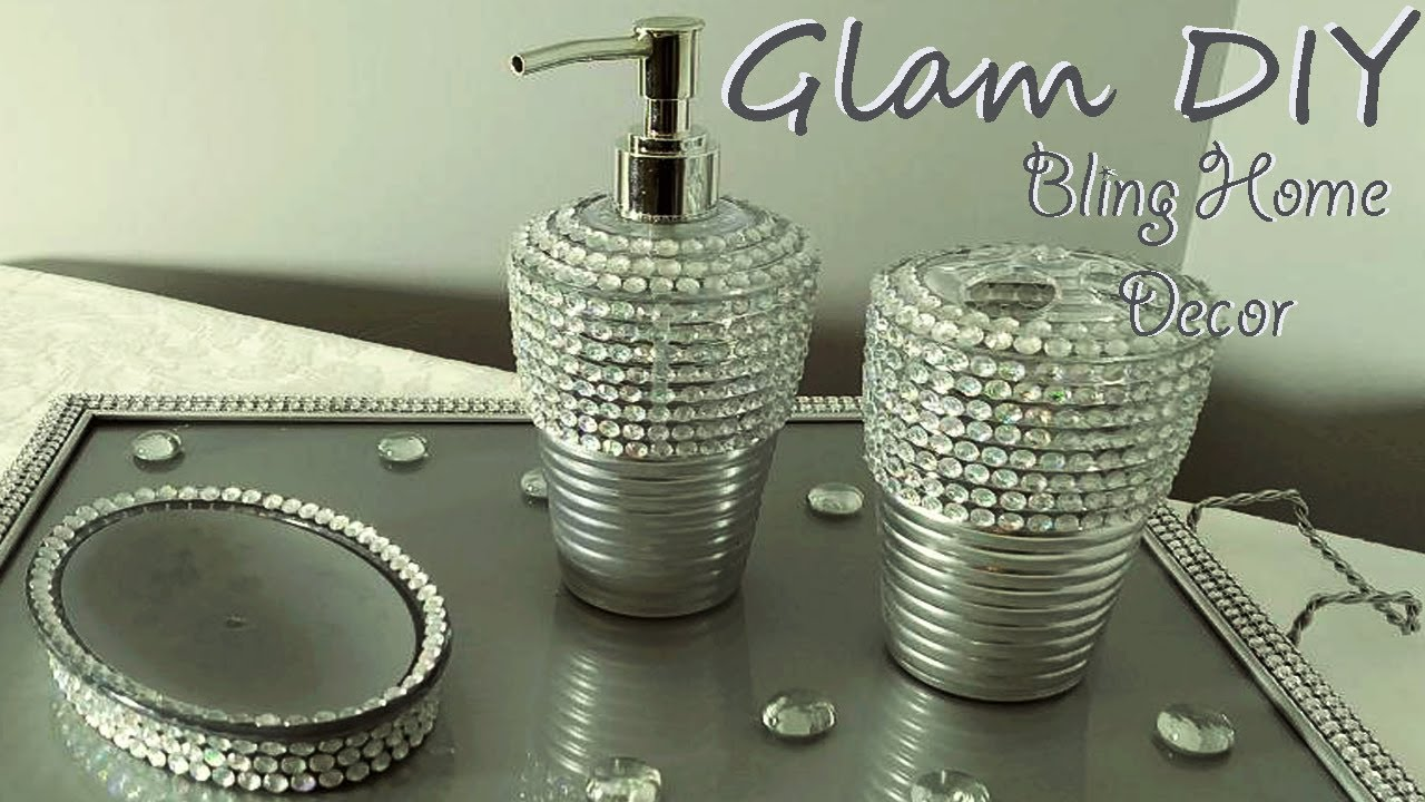 Dollar Tree Bling Glam Bathroom Accessories Glam Home