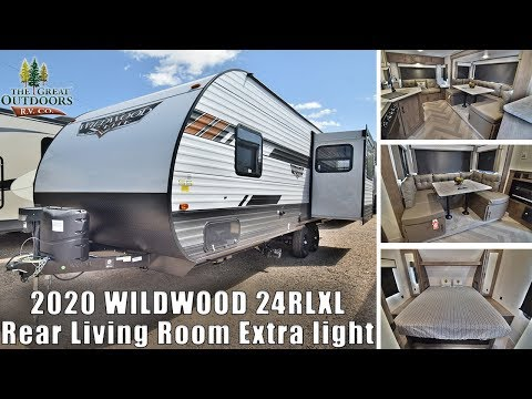 New 2020 WILDWOOD 24RLXL Couples Camper Rear Living Room RV Trailer Colorado Dealer
