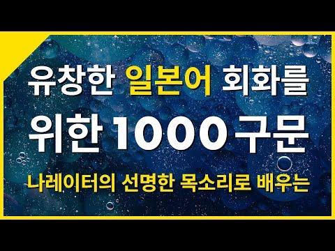 유창한 일본어 대화를 위한 1000구문
