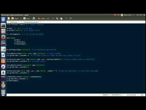 Python GUI with Tkinter Entry Widget |#5