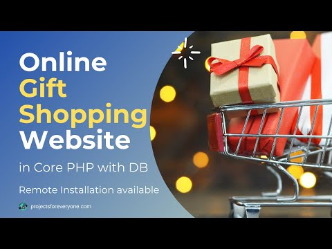 Responsive Online Gift Shopping Project in PHP with Shopping Cart image