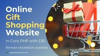 Online Gift Shopping Project in PHP with source code and database
